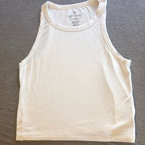 American Eagle White Soft&Sexy Crop Top Size M